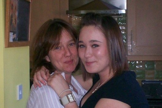Lauren and Mum before accident.